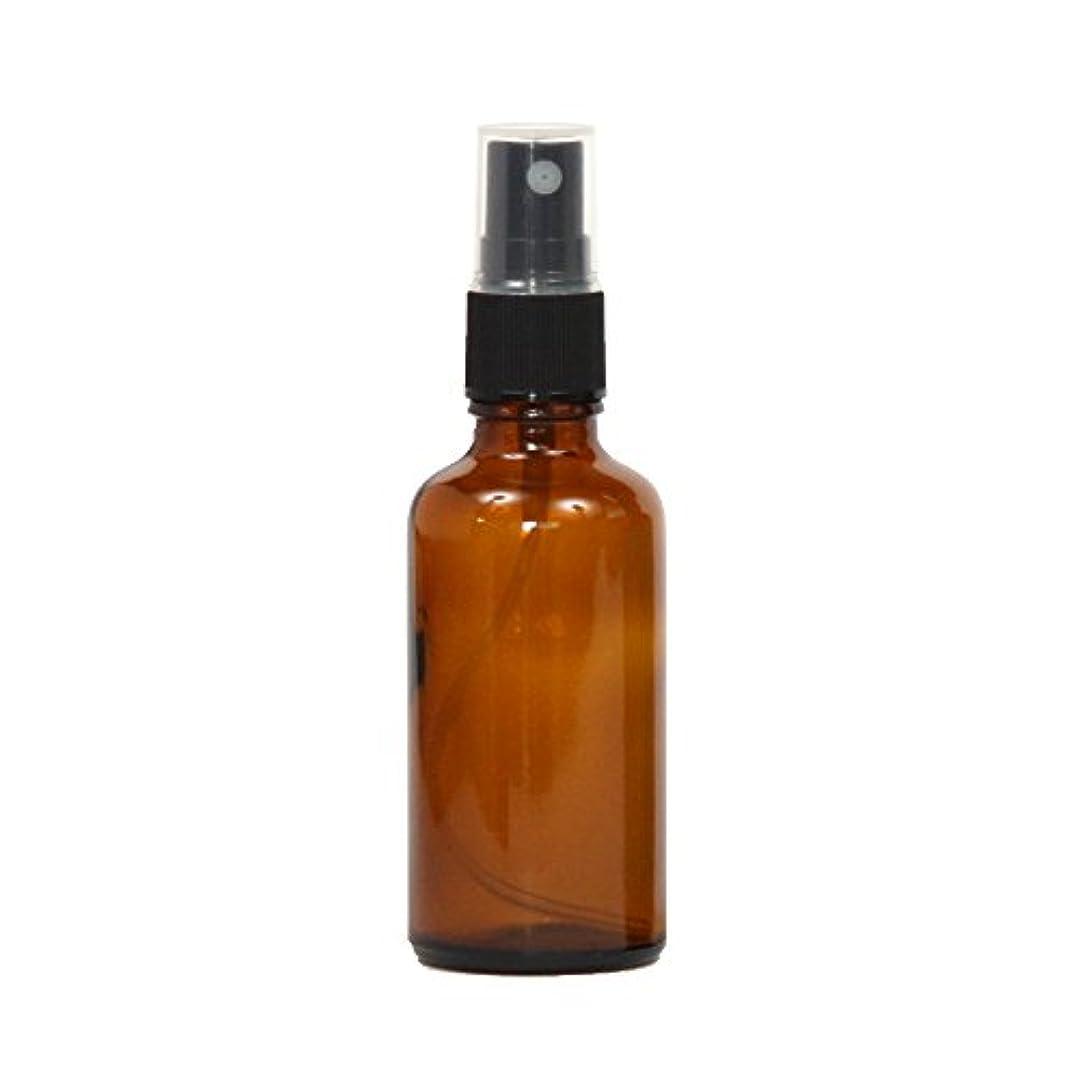 パースブラックボロウバリアセッティングスプレーボトル ガラス瓶 50mL 遮光性ブラウン(アンバー) おしゃれアトマイザー ミスト空容器br50g