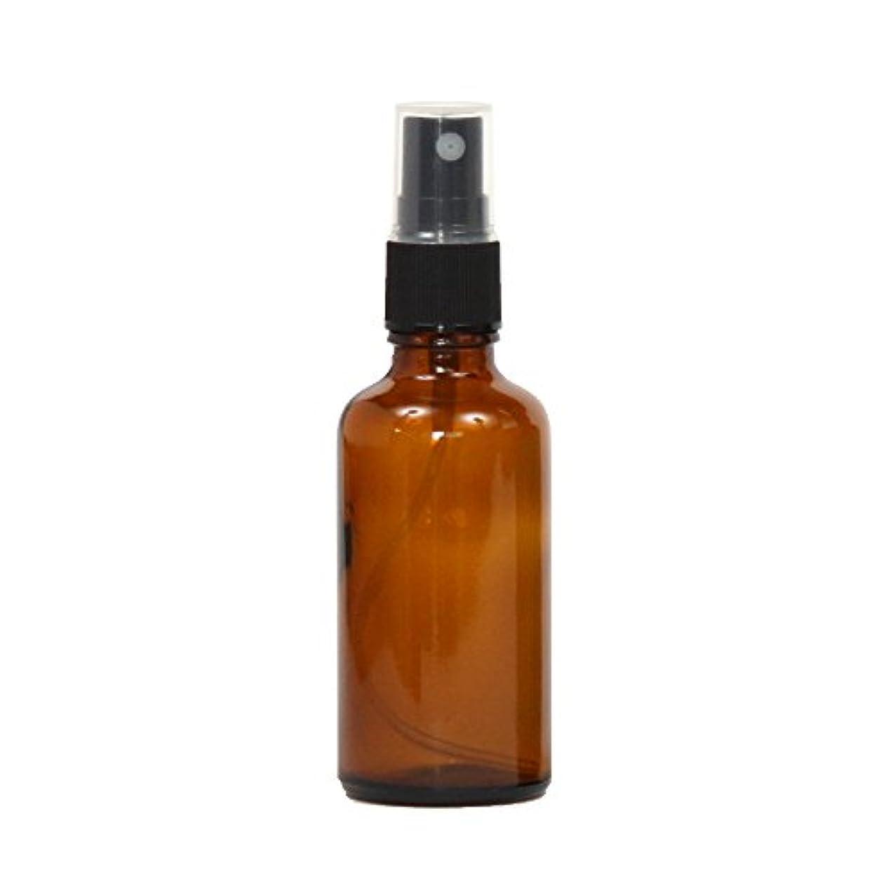 無光沢背骨スプレーボトル ガラス瓶 50mL 遮光性ブラウン(アンバー) おしゃれアトマイザー ミスト空容器br50g