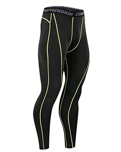 COOFANDY スポーツタイツ ロング メンズ 弾力 吸汗速乾 加圧 UVカット パワーストレッチ アンダーウェア トレーニング ランニング タイツ スポーツウェア 加圧 春夏