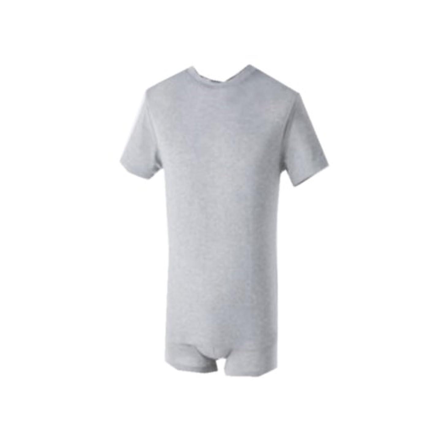 便利団結するリダクター竹スタイル メンズアンダーTシャツ グレー L