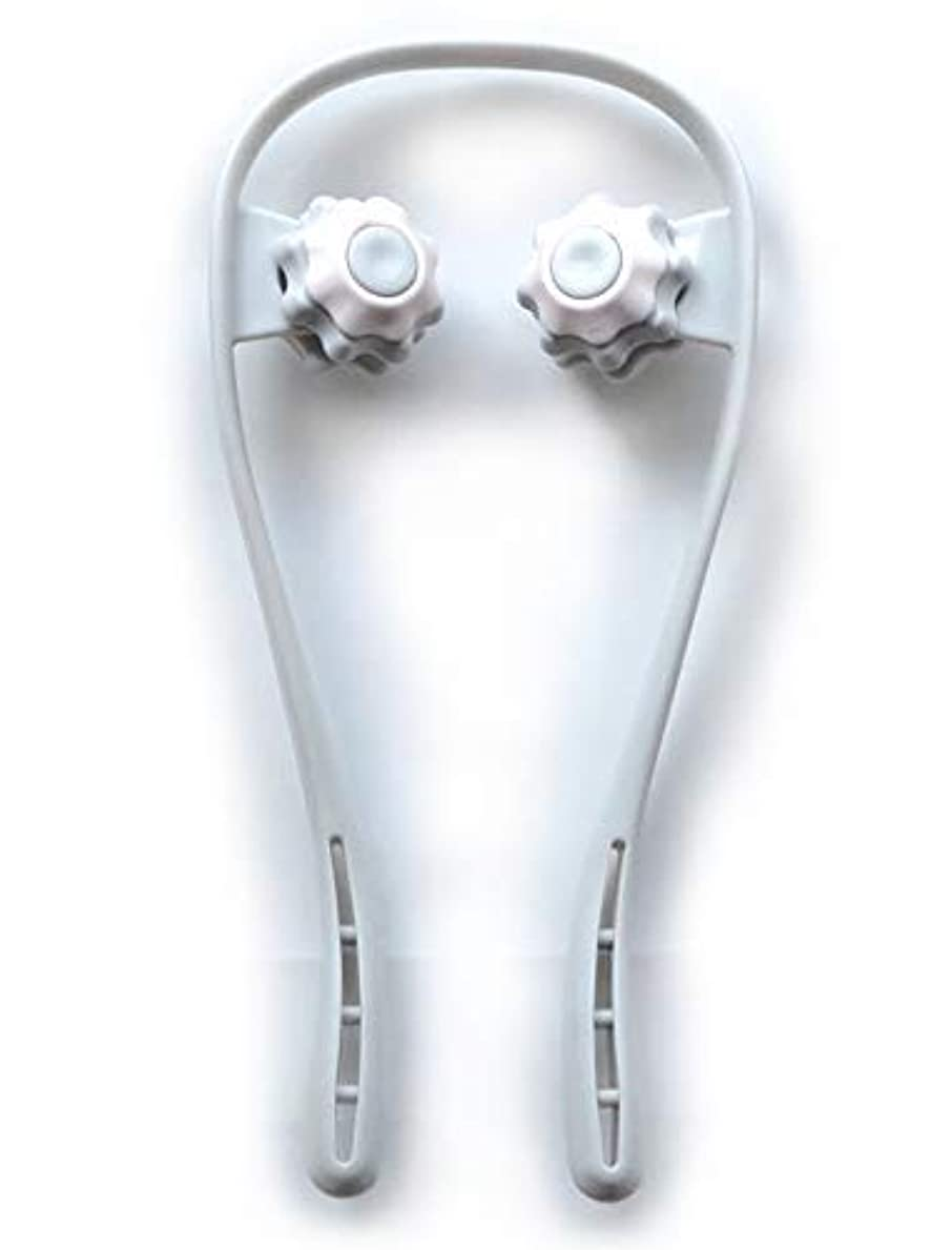 免除する受け皿電子ネックマッサージ 肩こり 首 ふくらはぎ 足の疲れ ツボ押し 簡易マッサージローラー リンパマッサージ 血行促進 トラベル 旅行 グレー