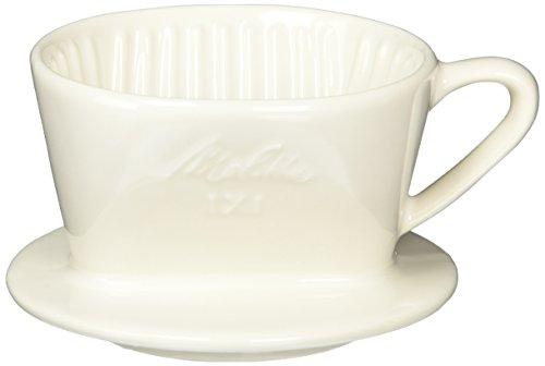 Melitta 陶器フィルター 【1~2杯用】 オフホワイト メジャースプーン付 SF-T 1×1