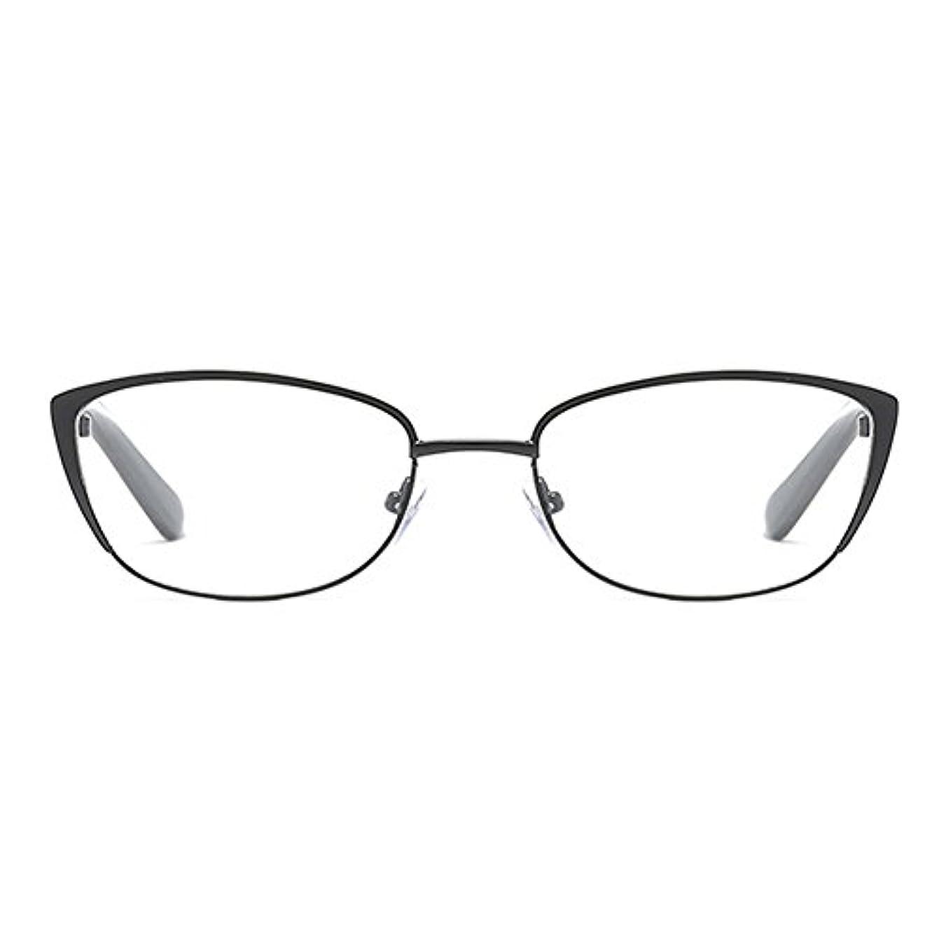 件名流出位置するFuyingda レディメガネ ファッション猫の目の老眼鏡 メタルフレームメガネ強度:+1.0?+4.0