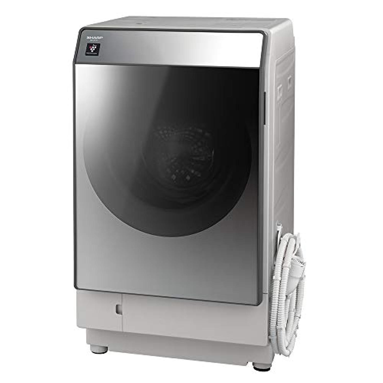 シャープ  SHARP  ドラム式洗濯乾燥機(ハイブリッド乾燥) 左開き(ヒンジ左) 洗濯11kg/乾燥6kg シルバー系 幅640mm  奥行728mm  DDインバーター搭載 ES-W111-SL