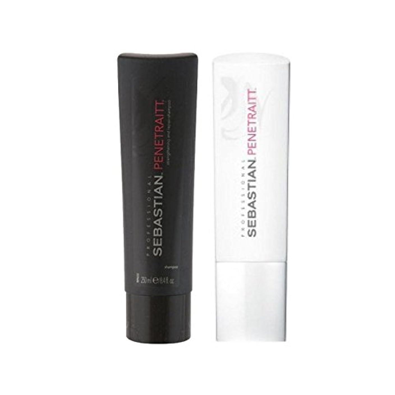 障害退屈させる福祉セバスチャンプロデュオ - シャンプー&コンディショナー x4 - Sebastian Professional Penetraitt Duo - Shampoo & Conditioner (Pack of 4) [並行輸入品]