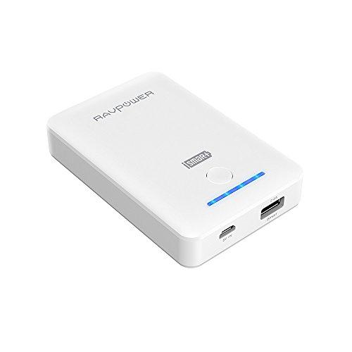 モバイルバッテリー RAVPower 10050mAh 充電器 ( コンパクト 軽量 小型 急速充電 )iPhone / iPad / スマホ / タブレット / ゲーム機 等対応【iSmart機能搭載】(ホワイト)