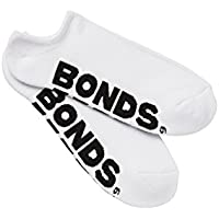 Bonds Men's Cotton Blend Logo No Show Sport Socks (3 Pack)