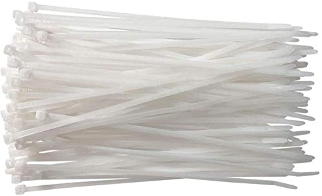 センブランスハプニングソロケーブルタイ250mm x 2.8mmナチュラルナイロンジップタイ200 pcs