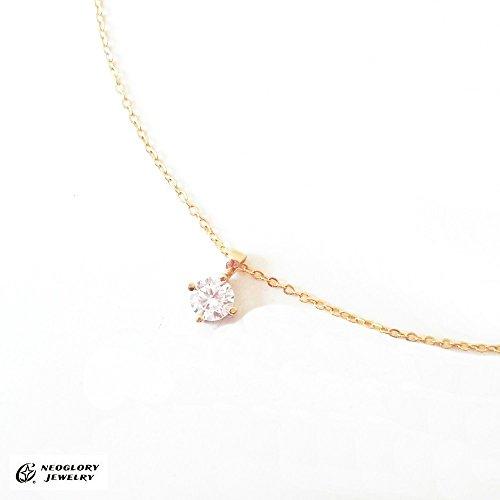 NEOGLORY[ネオグロリー] キュービックジルコニア 一粒 ネックレス(ネオグローリー)
