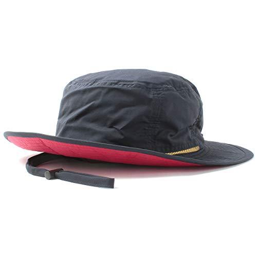 ベーシックエンチ(はっ水機能)ハット Teflon Safari Hat 帽子 アウトドア フリーサイズ ネイビー (裏:...