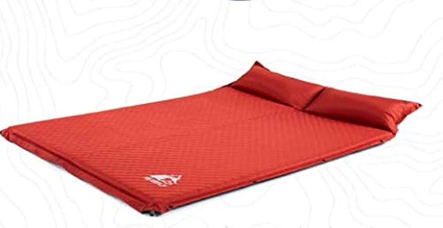化学者硬化する争うDonghechengkang 屋外肥厚5センチ自動インフレータブルクッション防湿パッド屋外テント睡眠マットダブルインフレータブルベッドキャンプマット