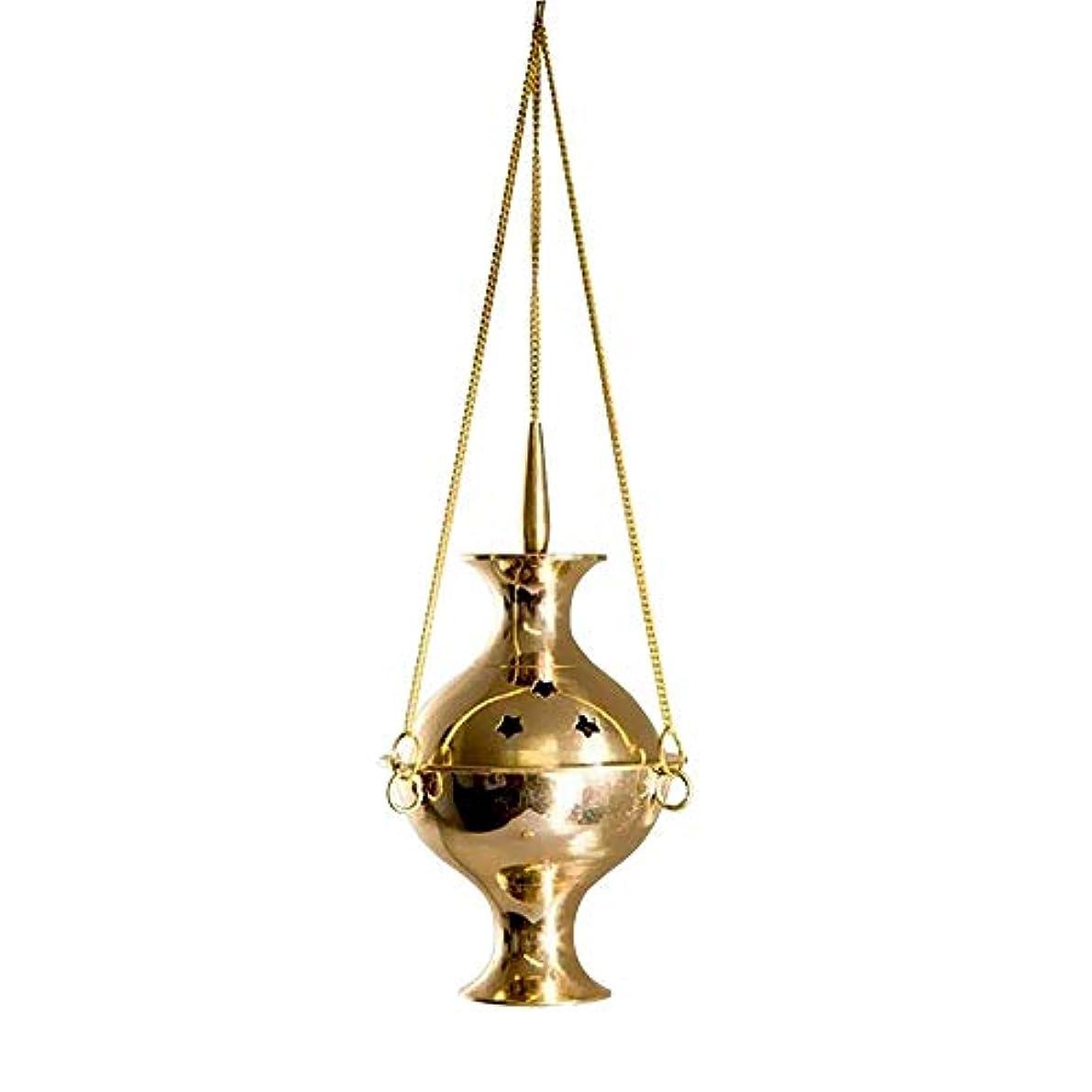 反乱ぎこちない強化するカトリック香炉 吊り下げ式香炉 チャコール 6インチ 真鍮 吊り下げ 香炉 炭 香炉 バーナー 真鍮製 輝く仕上げで適切な燃焼に役立ちます。