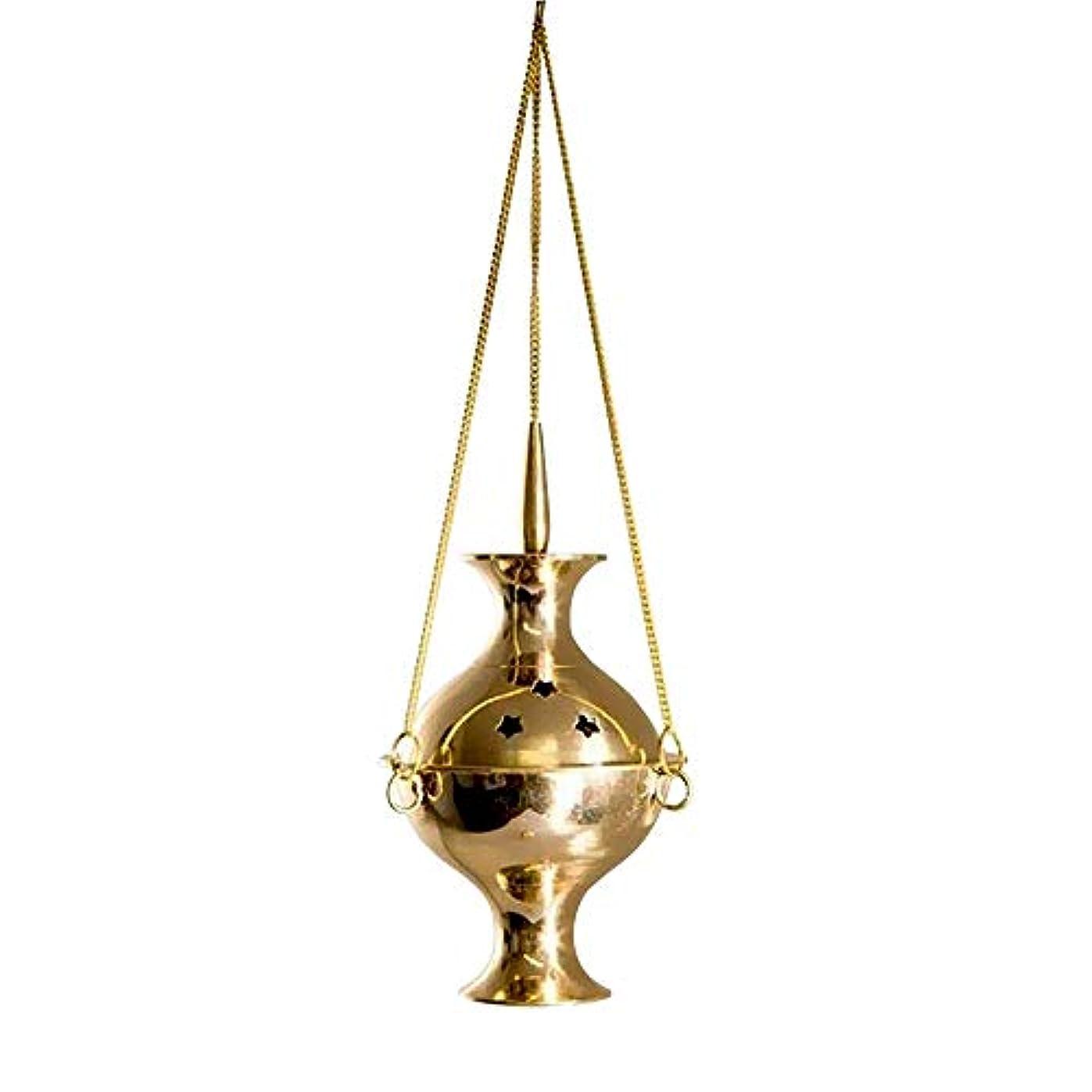 マイル管理者なめらかなカトリック香炉 吊り下げ式香炉 チャコール 6インチ 真鍮 吊り下げ 香炉 炭 香炉 バーナー 真鍮製 輝く仕上げで適切な燃焼に役立ちます。