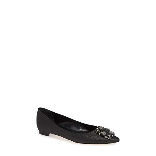 (マノロブラニク) MANOLO BLAHNIK レディース シューズ・靴 スリッポン・フラット 'Hangisi' Jeweled Pointy Toe Flat [並行輸入品]