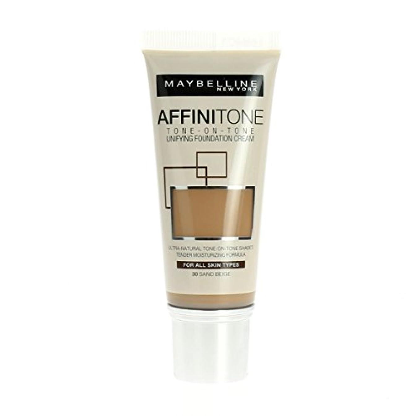 マイクロ以前は性能Maybelline Affinitone Unifying Foundation Cream (30 Sand Beige) 30 ml
