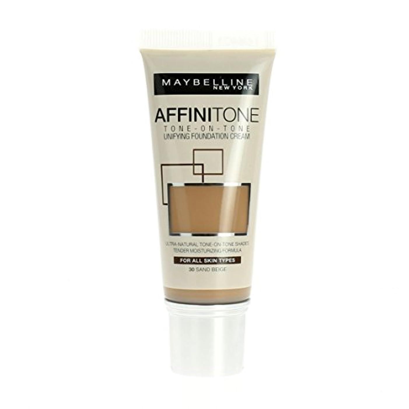 招待被るパネルMaybelline Affinitone Unifying Foundation Cream (30 Sand Beige) 30 ml