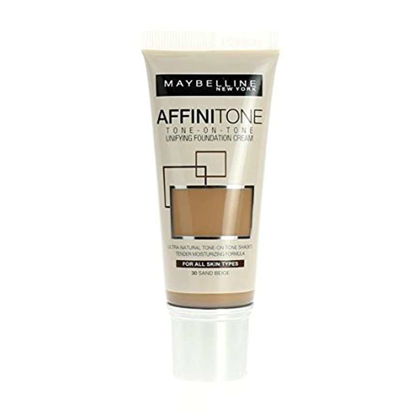 認可構造徹底的にMaybelline Affinitone Unifying Foundation Cream (30 Sand Beige) 30 ml
