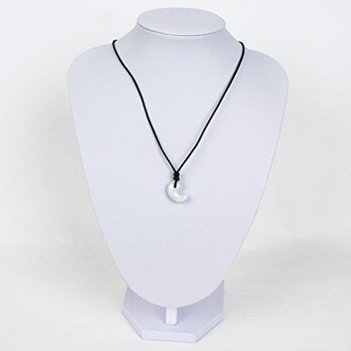 古代勾玉(まがたま)ペンダント ヒスイ[翡翠輝石 Jadeite]縦約20mm×横約15mm×厚み約7mm【桐箱入】