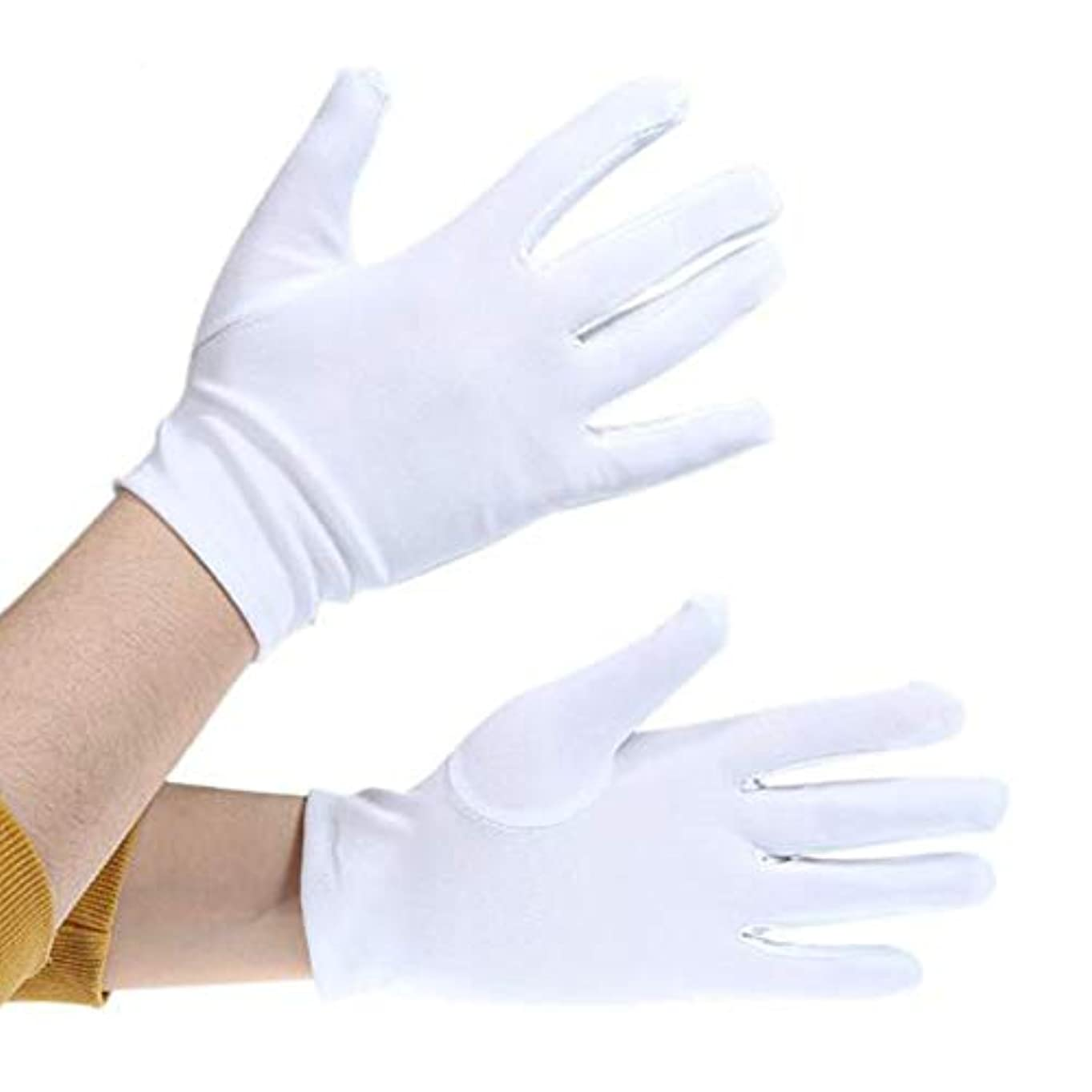 高架ホット汗白手袋薄 礼装用 ジュエリーグローブ時計 貴金属 宝石 接客用 品質管理用 作業用手ぶくろ,保護着用者