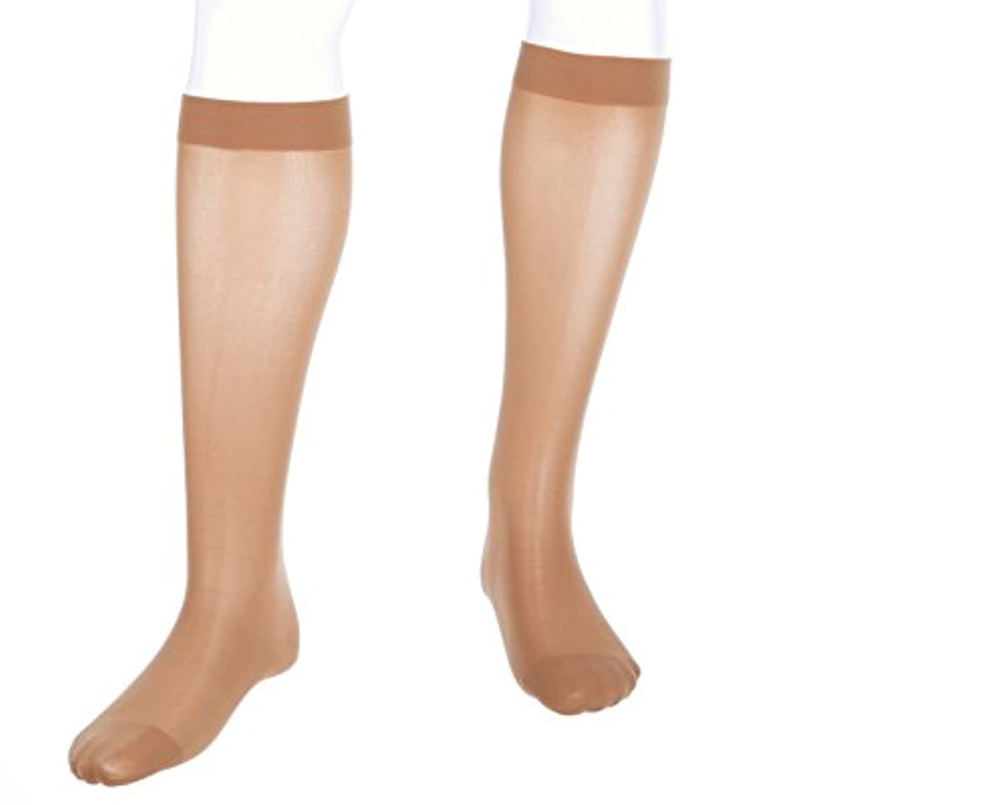 決めます人生を作るよく話されるMediven Assure, Closed Toe, 20-30mmHg, Knee High Compression Stocking, Large, Beige by Medi
