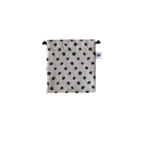 米織小紋・巾着袋(小) (豆絞り)