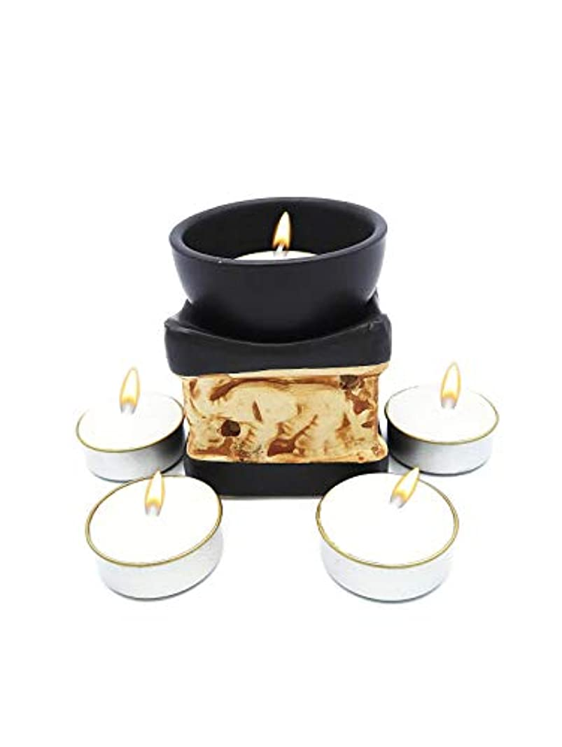 ヘビーようこそバルコニーElephant Essential Oil Burner Tea Light Candle Holder for Home Decoration & Aromatherapy *FREE Scented Tea Light...