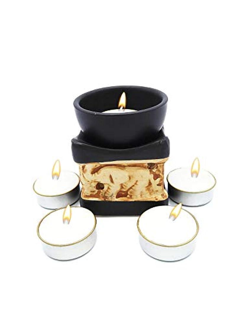 階層デマンド空白Elephant Essential Oil Burner Tea Light Candle Holder for Home Decoration & Aromatherapy *FREE Scented Tea Light...
