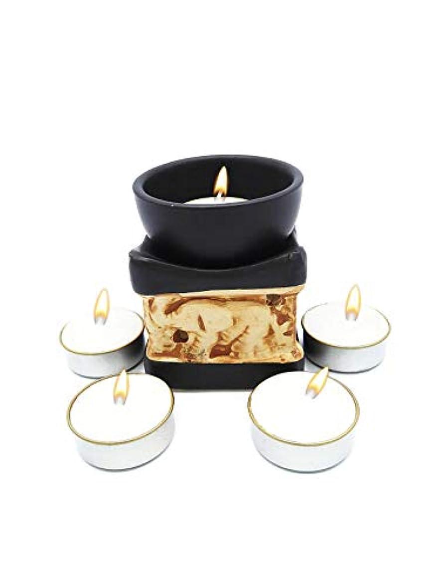 専門知識通信するスカイElephant Essential Oil Burner Tea Light Candle Holder for Home Decoration & Aromatherapy *FREE Scented Tea Light...