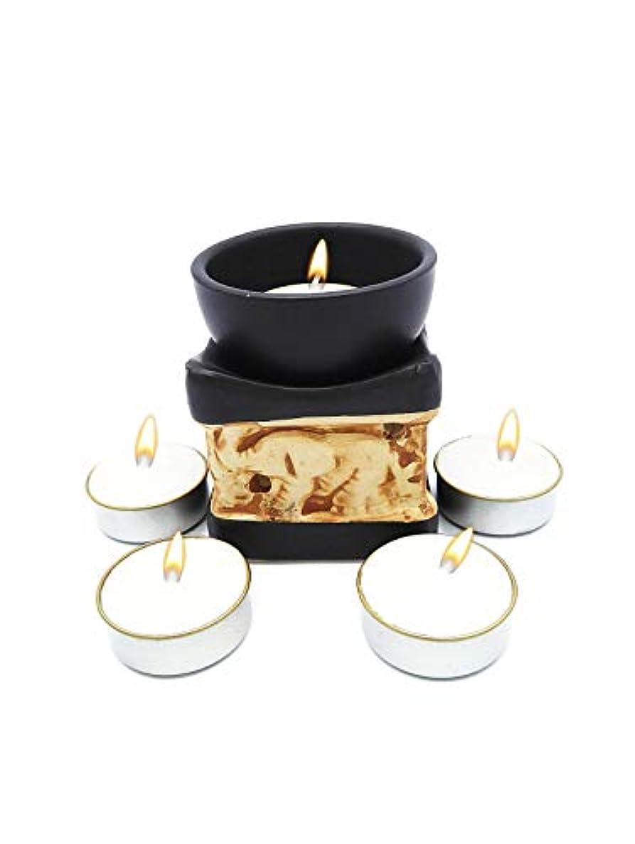 目に見える事前ベアリングサークルElephant Essential Oil Burner Tea Light Candle Holder for Home Decoration & Aromatherapy *FREE Scented Tea Light...