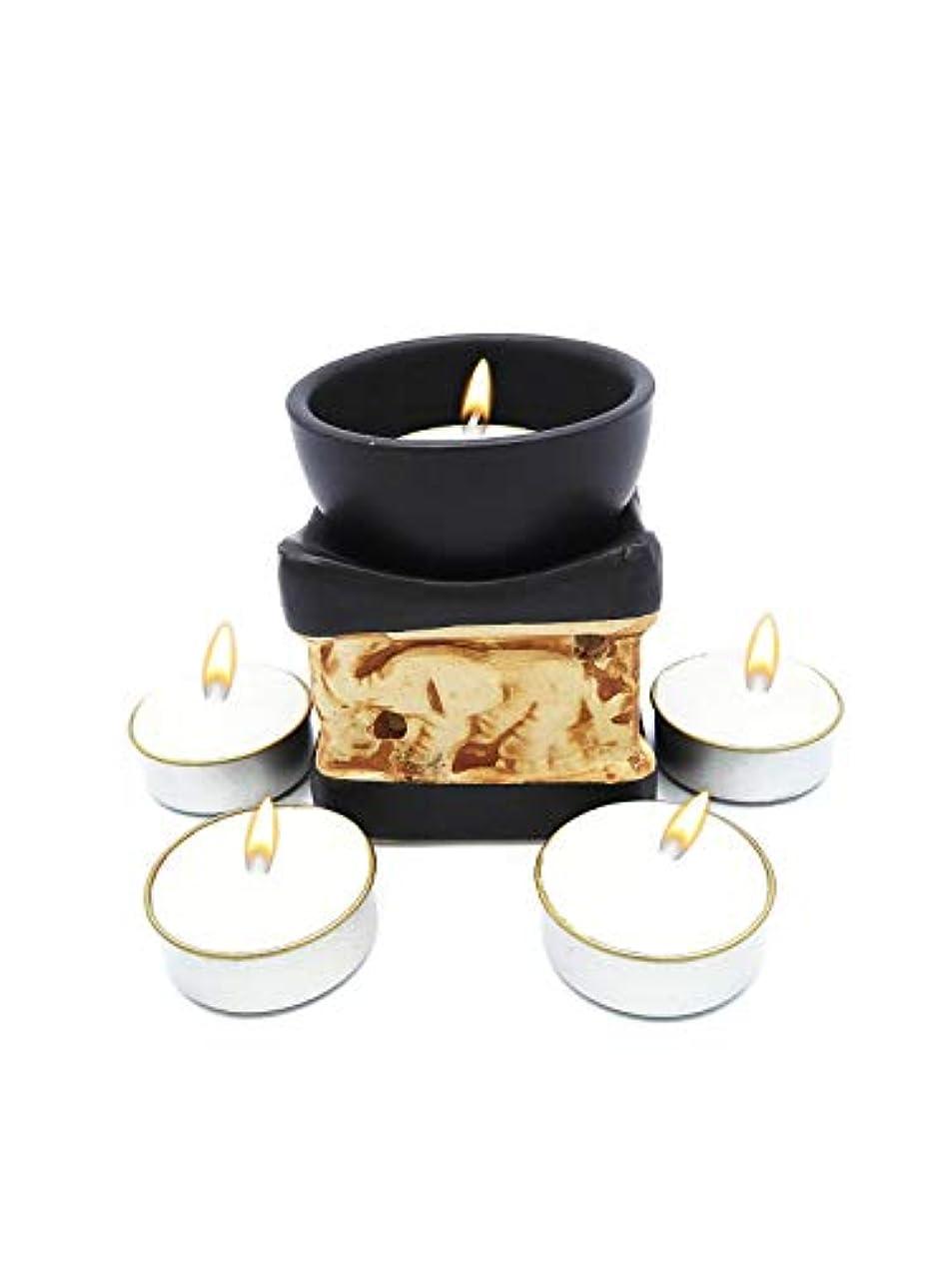 雄弁な哲学的安心させるElephant Essential Oil Burner Tea Light Candle Holder for Home Decoration & Aromatherapy *FREE Scented Tea Light...