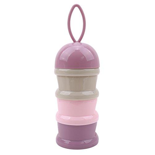 BEE&BLUE ミルクボックス 赤ちゃん ベビー フード収納ボックス ミルクパウダーボックス 3層 非流出 離乳食保存 粉ミルク スナック 携帯ケース 保存容器