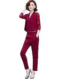 646b175a31344   ナチュシー   レディース セットアップ パンツ ドレス オールインワン スーツ オーバーオール   刺繍 アンサンブル