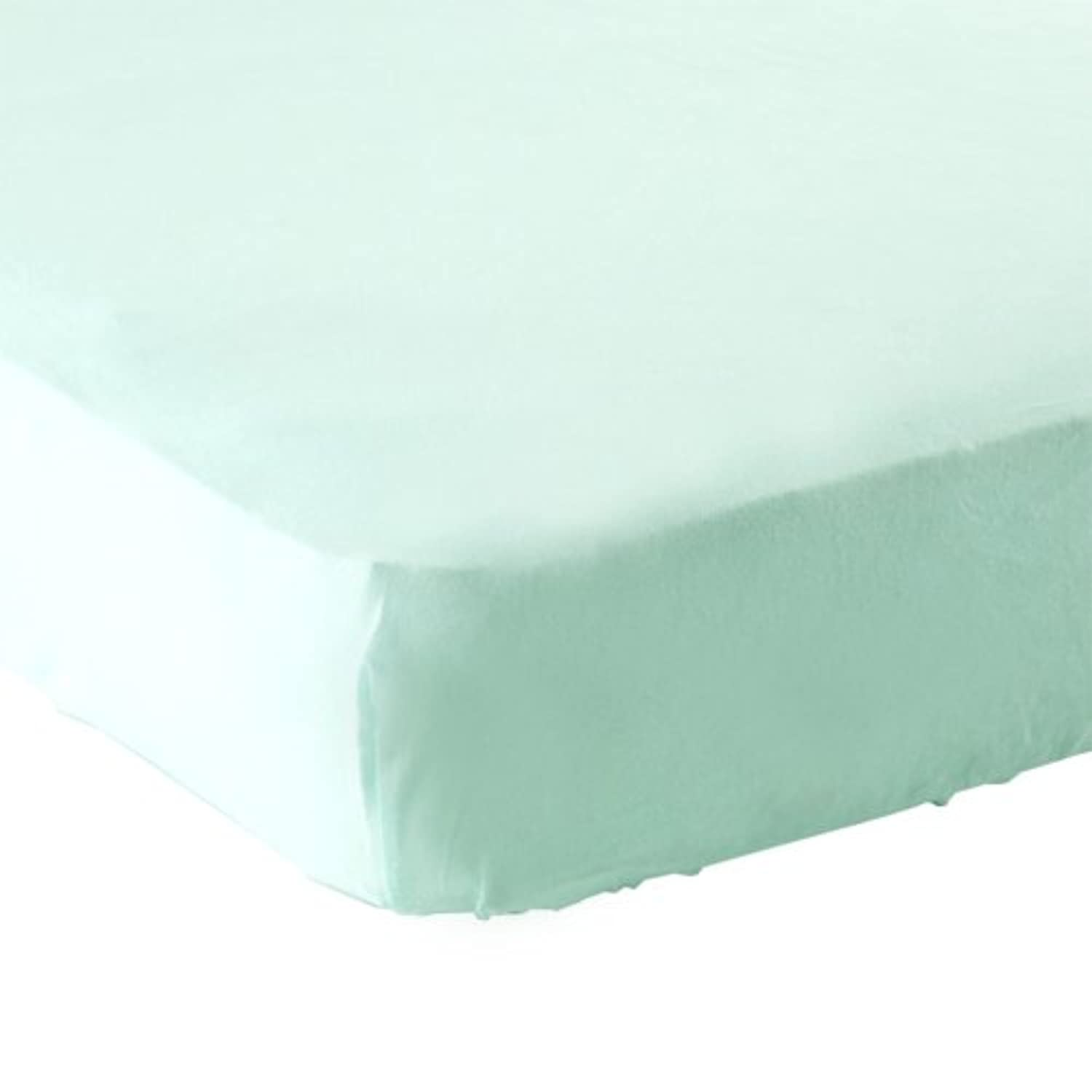 Luvable Friends Fitted Knit Crib Sheet, Mint by Luvable Friends