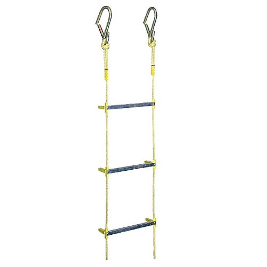 環境に優しい衝動伝導率八ツ矢工業 アルミ縄はしご 非常用 避難ロープ 10m 幅340mm 耐荷重160kg メーカー直送 12046