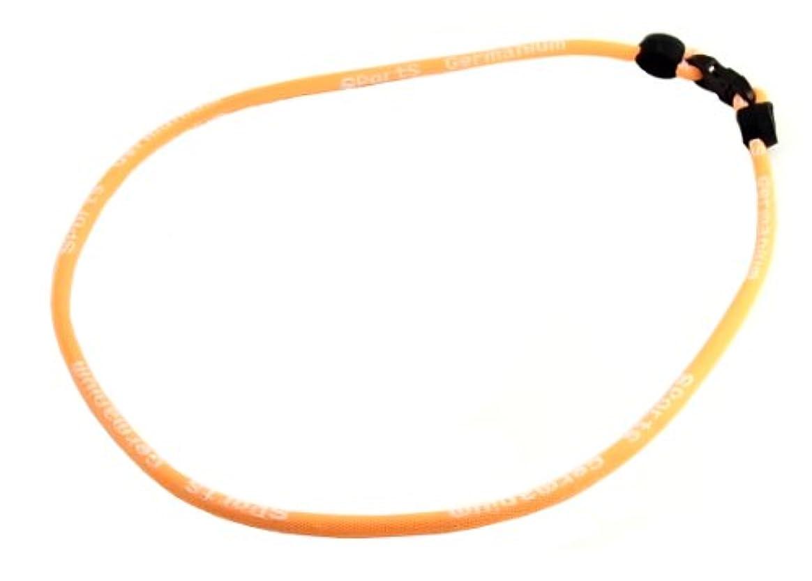 節約ラインナップクライアント蛍光色 スポーツネックレス ゲルマニウムネックレス チタンネックレス kiko-オレンジ