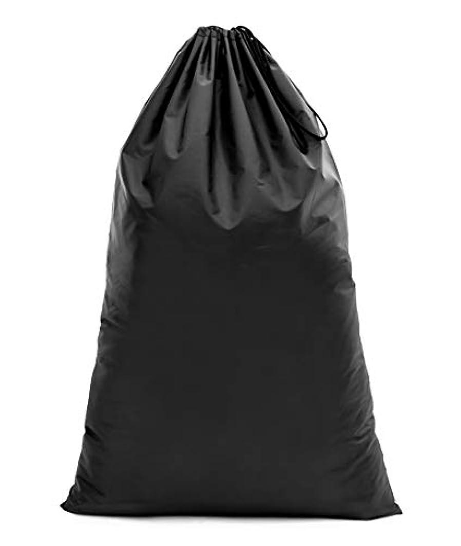 断言する太い受取人【Y.WINNER】特大サイズ 巾着袋 収納袋 (70*45CM) 強力撥水加工 アウトドア キャンプ 旅行 バッグ 万能巾着袋 大きいサイズの着替え袋にも使える YWN9976K ブラック (70*45)