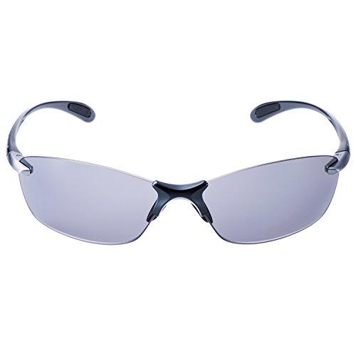 SWANS(スワンズ) サングラス エアレス リーフ フィット 偏光レンズ モデル SALF-0051 GMR ダークガンメタリック×ライトシルバー