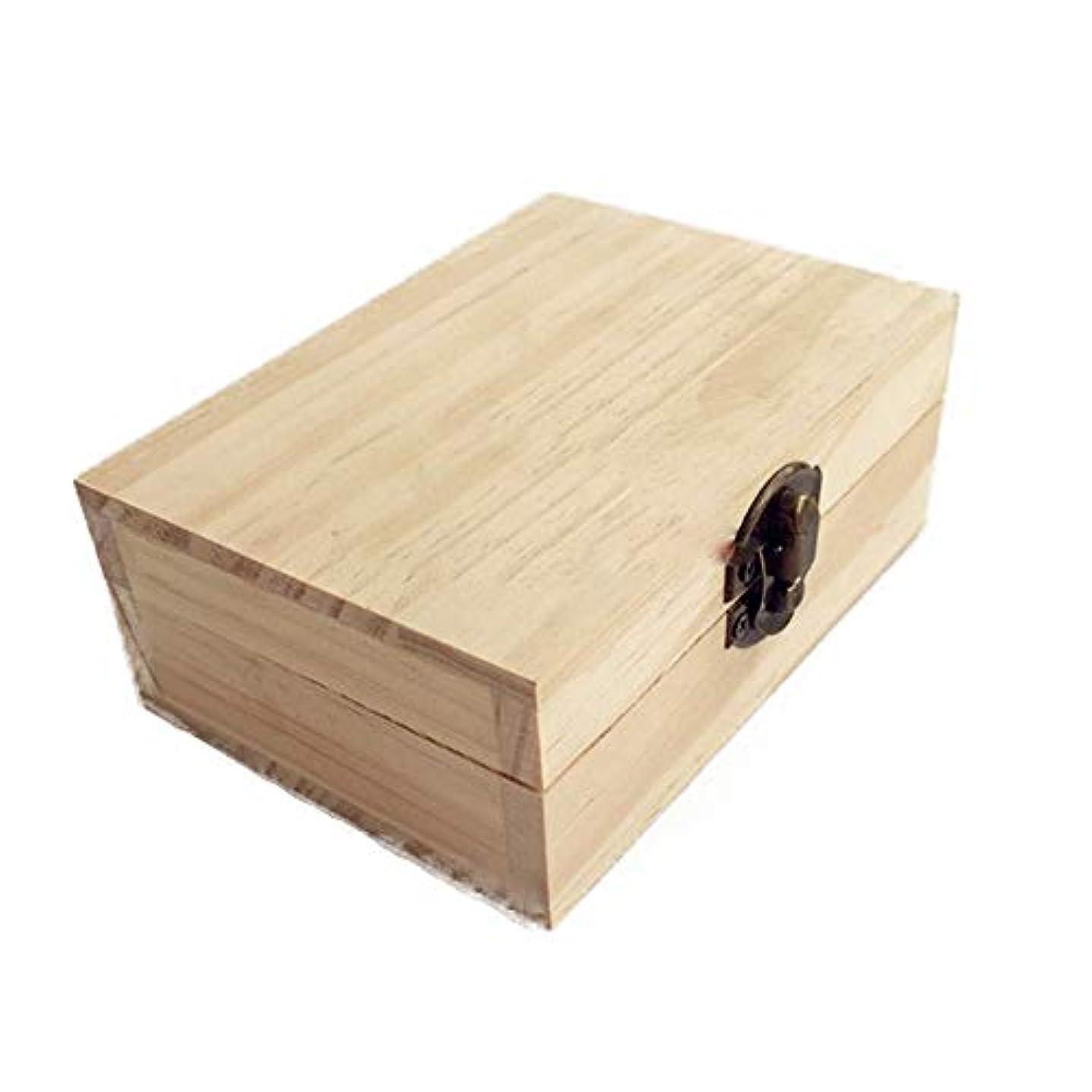 どこにも乱す手当エッセンシャルオイルボックス オイルボックス木製収納ボックスにスペースを節約するために、精油の3本のボトルを適用 アロマセラピー収納ボックス (色 : Natural, サイズ : 12X9X4.5CM)