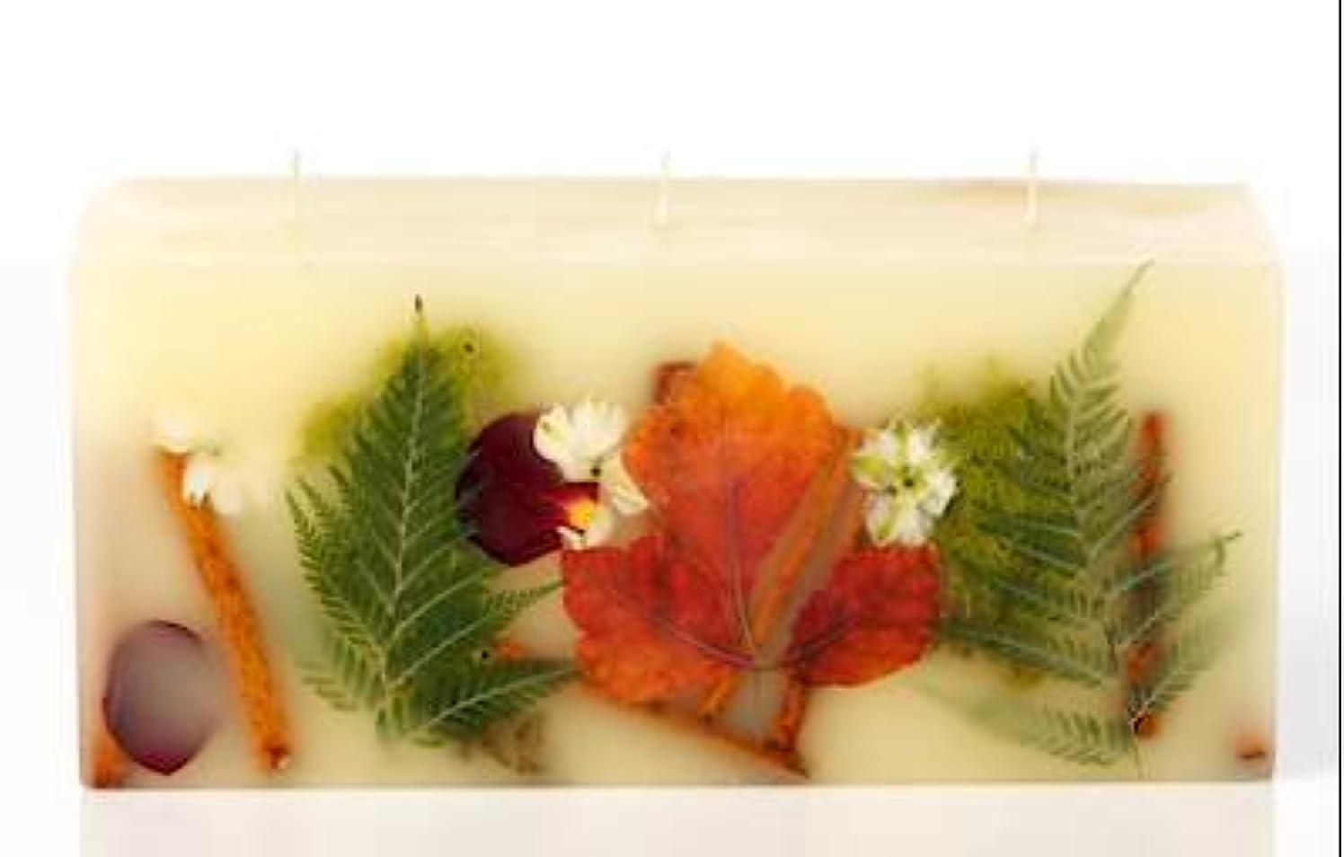 一晩オーバーフロー運河Rosy Rings 3 WickレンガBotanical Candle – オークモス& Myrrh