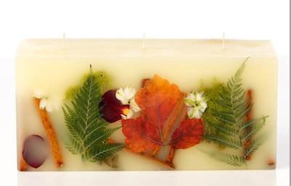賞賛争い音節Rosy Rings 3 WickレンガBotanical Candle – オークモス& Myrrh