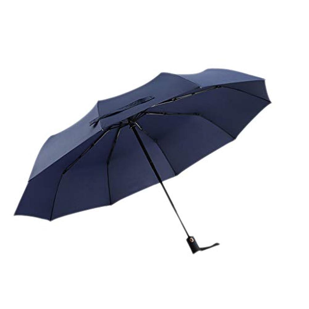 書き込みウェイトレス不快な傘自動折り畳み大ダブル強化風防二重使用サン傘 (色 : A)