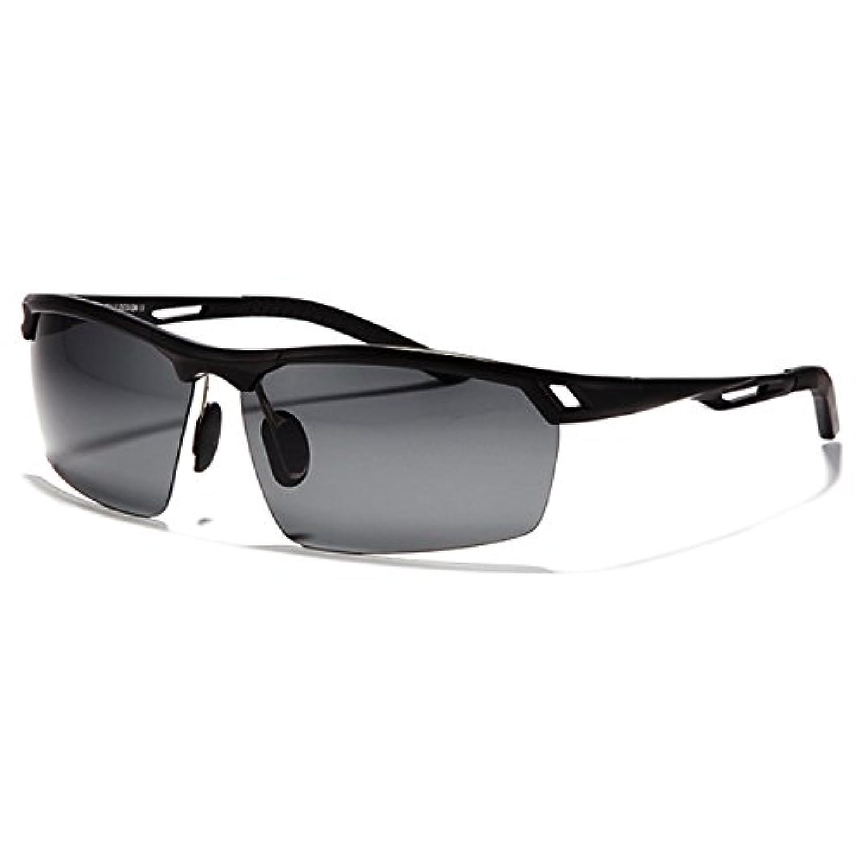 CHB スポーツ サングラス 偏光レンズ HDミラー UV400 紫外線 超軽量 運転 ジョギング 自転車 釣り 野球 テニス スキー ランニング ゴルフ ドライブ