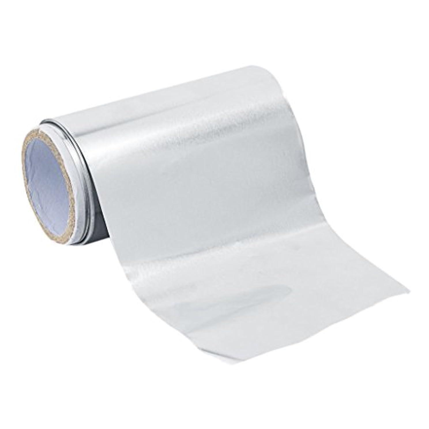 カラス陸軍緊張するFenteer アルミニウム ヘア/ネイル用 錫箔紙 ネイルアート 爪化粧用具  クリーナーツール ジェル除却 5m