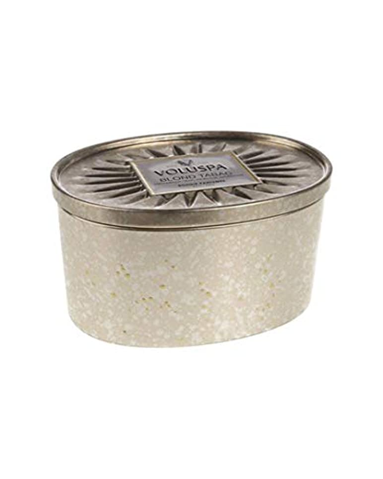VoluspaブロンドTabac 2 Wick Candle in Decor Oval Tin 11 oz