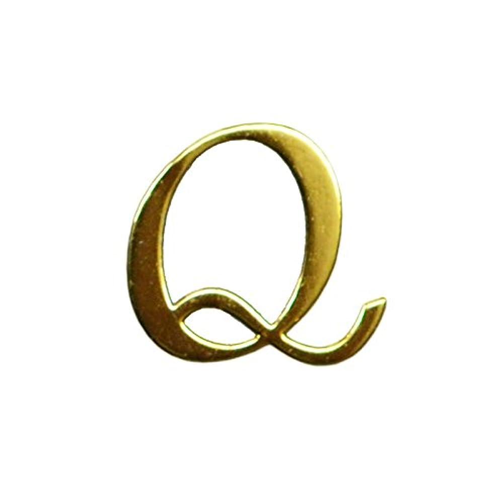 見える胆嚢小さなQ/ゴールド・人気の書体のアルファベットイニシャルパーツ!5mm×5mm10枚