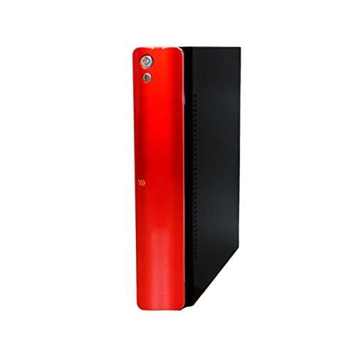 ファンレス電源搭載 SlimPc SD100 Core i7 HDD 500GB メモリ8GB DVD Windows7PRO Office レッド 静音 1年保証 パソコンショップaba