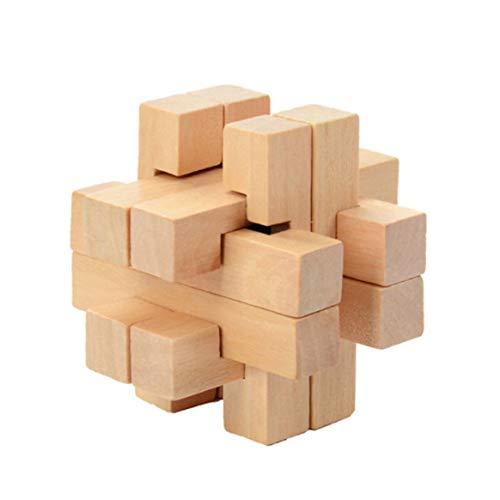 子供の知能玩具ギフトクリエイティブ木製ブレインティーザーロック知育玩具様々な種類楽しさをもたらす(多色)