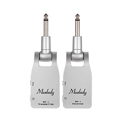 Muslady 2.4GHz無線 ギターシステムトランスミッタ&レシーバ 内蔵充電式リチウム電池 3...