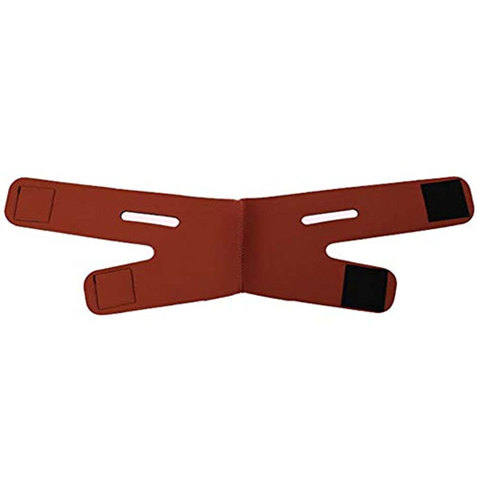 部屋を掃除する来てホテルGYZ フェイシャルリフティング痩身ベルト圧縮二重あご減量ベルトスキンケア薄い顔包帯二重あごワークアウト Thin Face Belt (Color : Red)
