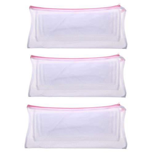 YONIK 洗濯ネット ズボン用ネット ズボン ランドリーネット ズボン収納バッグ 型崩れ防止 細目 3個セット
